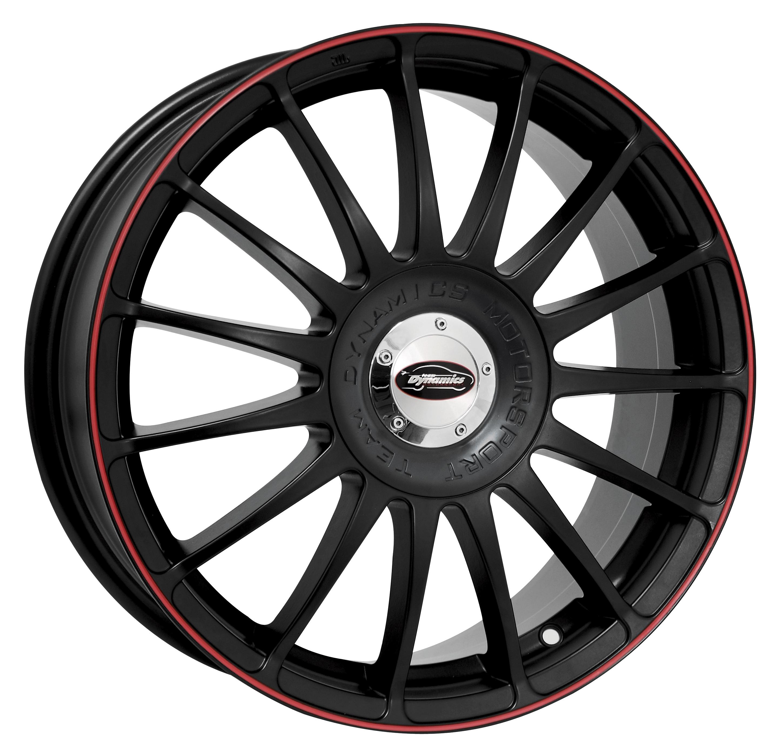 Monza RS Flatblack-RedRim - Print